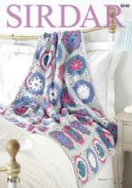 Sirdar No.1 Double Knit Crepe - 8048 Throw Crochet Pattern